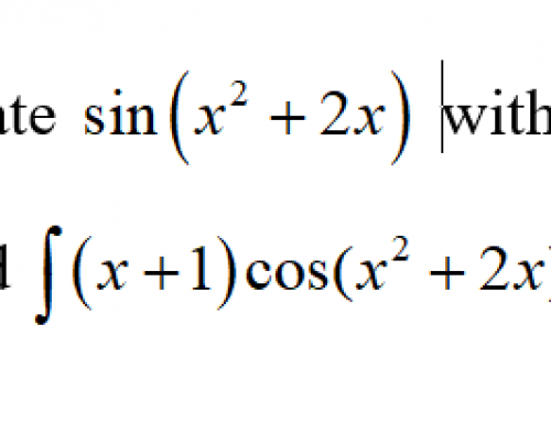 Additional Math – Integration – Integration of Product