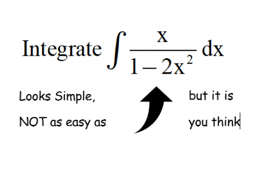 Additional Math – Integration – Integration of a fraction with variable in the numerator and denominator
