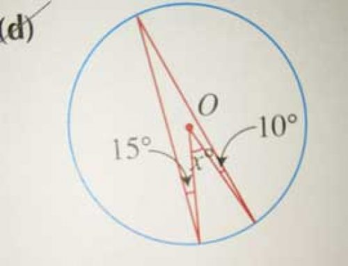 Elementary Math – Properties of Circles – Use Isosceles Triangles to Find Unknown Angle