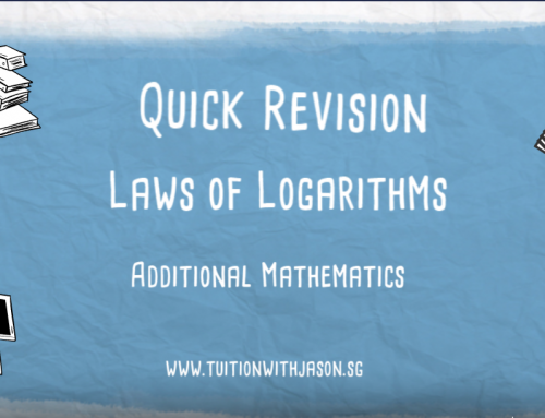 Video – A-Math – Quick Revision- Laws of Logarithms