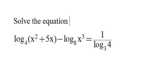 Additional Math -Logarithm – Change of Base and Solve for x.