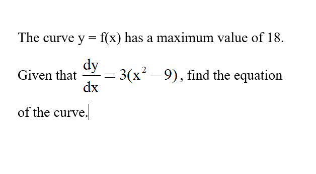 Additional Math – 2nd order Differentiation and Integration – Find the equation of the curve