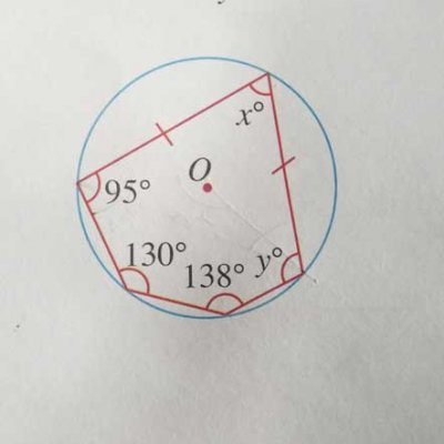 Elementary Math – Properties of Circles – Use Angles in a Polygon to Find Unknown Angle