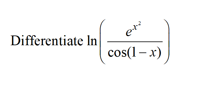 Additional Math – Differentiation – Exponential (e) and Trigo (Cosine)